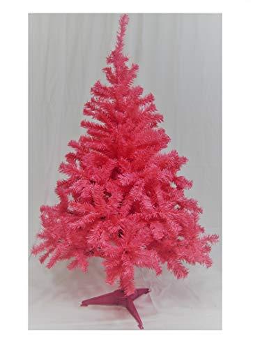Holiday Basics 4 Foot Artificial Christmas Tree with 350 Tips (Pink) (Pink Tree Prelit Christmas)