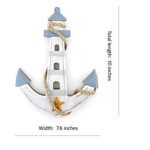 10×76-Wooden-Nautical-Lighthouse-Anchor-Wall-Hanging-Ornament-Plaque