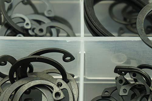 Ochoos 225 PCS//Lot M6-M32 Steel Opening snap Ring,e Clip retaining Ring Washer retaining Ring kit