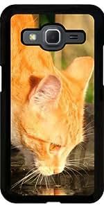 Funda para Samsung Galaxy Core Prime (SM-G360) - Dulce Lindo Gato Rojo by WonderfulDreamPicture