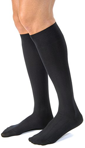 BSN Medical 113103 JOBST Men's CasualSock with Closed Toe, Knee High, 15-20 mmHG, X-Large, Black