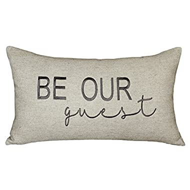 DecorHouzz Be Our Guest Embroidered Pillow Cover Pillow Cases Throw Pillow Decorative Pillow Wedding Birthday Anniversary Gift 12 x20