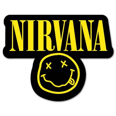 Nirvana smiley rock band vynil car sticker decal 3