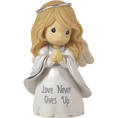 (Precious Moments Love Never Gives Up Angel Resin Home Decor Collectible Figurine 173016)
