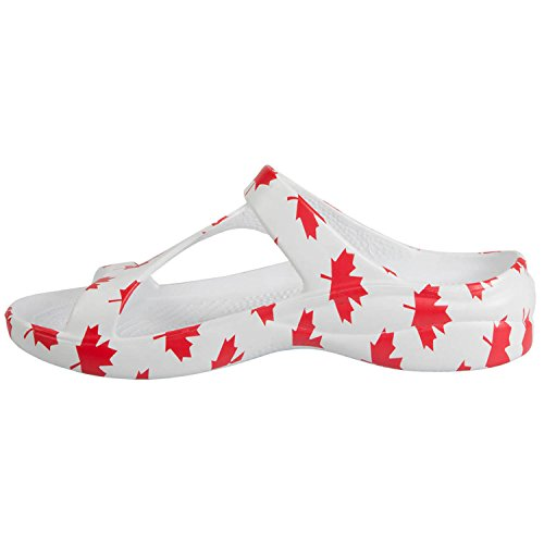 Dawgs Damesboogsteun Loudmouth Z Sandalen Wit / Rood
