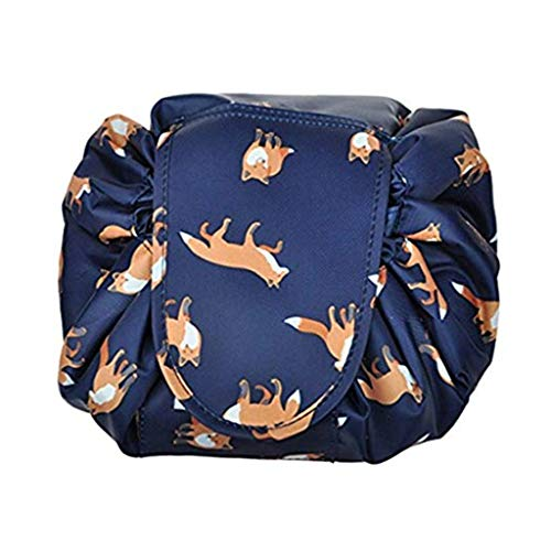 Toiletry Bag Travel Bag,Portable Fashion Drawstring Cosmetic Bag Large Capacity Waterproof Travel Makeup Pouch Magic Bag for Womens Girls,Fox