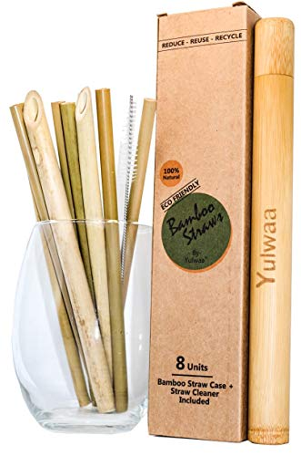 Bamboo Reusable Straws, Set of 8 x 8