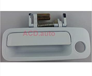White Outside Gray Inner Left Right All Front Door Handle For 97-01 Toyota Camry