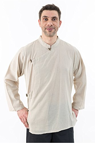 - Chemise tibetaine homme ouverture laterale - L - (40-42)