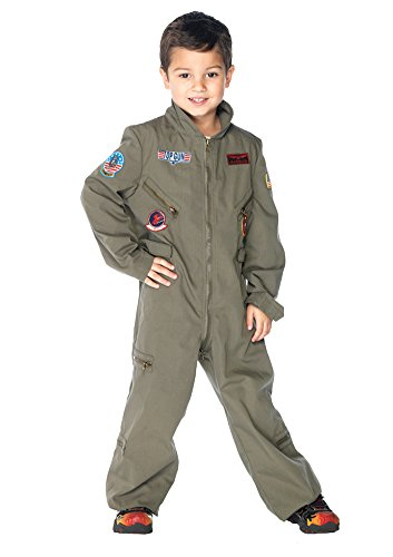 Boys - Top Gun Flight Suit Child Sm Halloween Costume - Child - Gun Top Costume Girl