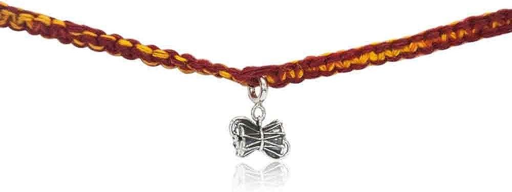 Fourseven Wrap Around Moli Rakhi Bracelet with 925 Sterling Silver Damru Charm | Best Gift for Rakshabandhan