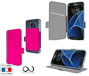 Rose Bonbon Collection Exception Funda de Cuero para Samsung Galaxy S7 Edge Plus Flip Case Cover (Estuche) PU Cuero - Funcion de Soporte / Billetera con Tapa para Tarjetas- Accesorios Case Industry Protector