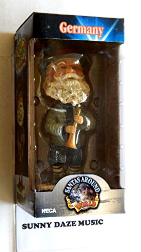Santa Claus Decorative Hand Painted Heavy Porcelain Head Knocker Bobble - Germany Christkind - Santas Around The World - Weighs 2 Pounds