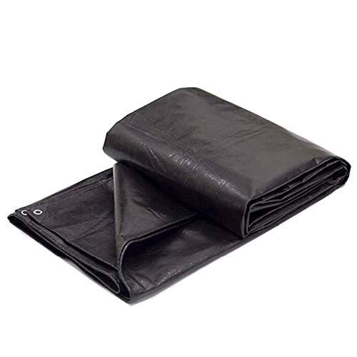 廃棄報奨金パイルQIANGDA トラックシート荷台カバー防水 プラスチックフィルム 防湿 ポリエチレン 酸化防止剤、 (厚さ0.25mm) 複数のサイズ (色 : 黒, サイズ さいず : 2.8 x 2.8m)