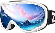 ZIONOR Lagopus Ski Snowboard Goggles UV Protection Anti-Fog Snow Goggles
