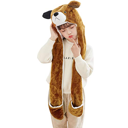 PULAMA Winter Animal Hat Set Cap 3-17yr Kids Cosplay Party C