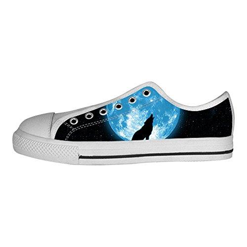 best sneakers 14438 2a6e7 I Shoes E Scarpe Alto Lacci Ginnastica Custom Luna Delle Tetto Lupo Da  Canvas Womens aXwHYnq