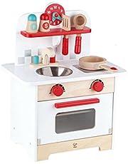 Hape Gourmet Kitchen Kid's Wooden Play Kitchen in Retro Red