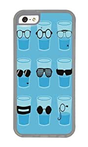 Apple Iphone 5C Case,WENJORS Awesome Glasses Soft Case Protective Shell Cell Phone Cover For Apple Iphone 5C - TPU Transparent