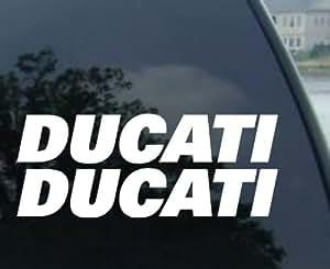 "(2) 6"" Ducati Decals Stickers - DUCATI 1098 SUPERBIKE 999 749 848 MONSTER HYPERMOTARD 1100 996 SPORT TOURING"