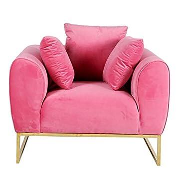 Muebles Marieta Sofá de Terciopelo Audrey Pink: Amazon.es: Hogar