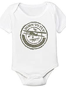 Born To Fly, Aviation Themed Baby Bodysuit