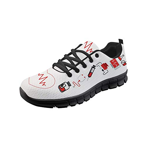 Heart Running Lightweight Flats Coloranimal 2 Walking Air Nurse Womens Mesh Sneakers Footwear Tennis RwcSqSPH4T