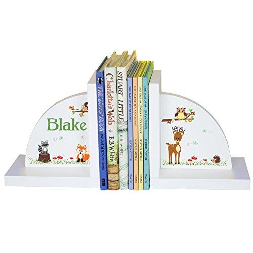 - MyBambino Children's Personalized Woodland Bookends