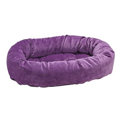 "Donut Pet Bed Size: Small - 27"" L x 22"" W, Color: Orchid"