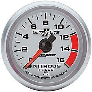 Auto Meter 4974 Ultra-Lite II Full Sweep Electric Nitrous Pressure Gauge