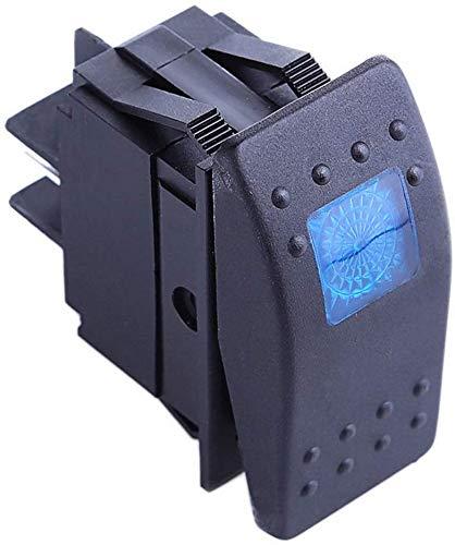 Gebildet 4pcs Interruptor Basculante,ON-Off LED Interruptor para Barco Marino Rojo,Amarillo,Azul,Verde 6.3mm +16pcs Terminal