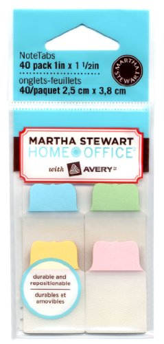 """Martha Stewart Home Office with Avery® NoteTabs, 1"""" x 1.5"""", 40 Pack"""