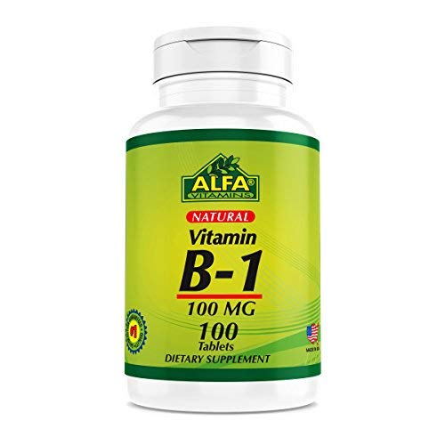 Vitamin B-1 100 Mg 100 Tablets. Thiamine
