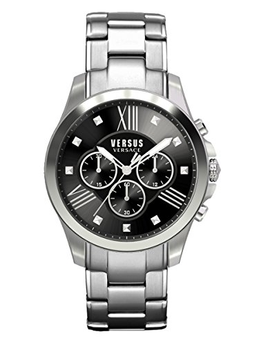 Versus by Versace Men's SBH050015 Chrono Lion Analog Display Quartz Silver - Lion Versace