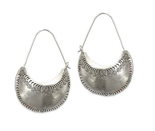 Boho Jewelry Boho Hoop Earrings Big Bohemian Earrings Statement Tribal Earrings Big Boho Earrings Silver Ethnic Earrings 5578
