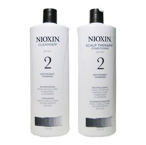Nioxin System 2 Liter Duo Cleanser & Scalp Therapy Conditioner 33.8 Oz / 1l Each
