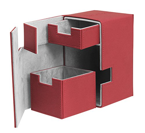 (Flip N Tray Xenoskin Deck Case 100/120 Card, Red)