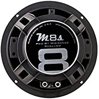 Massive Audio M8S - 8 Inch 300 Watts Max / 140w RMS, Pro Audio Midrange Shallow Mount Speaker for Cars, Stage and DJ Applications