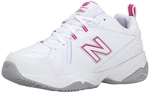 New Balance Women's WX608v4 Training Shoe, White/Pink, 8.5 D US