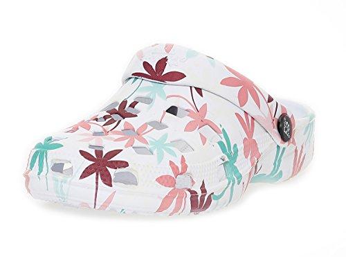 Mujer Zuecos Zapatos de playa Zapatos del jardín Zapatillas de sauna Sandalias CL 263 Braun / Mint