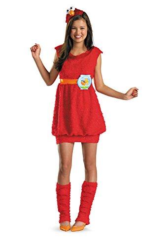 Elmo Dress Girls Costumes (Elmo Child/Tween Costume Size L (10-12))