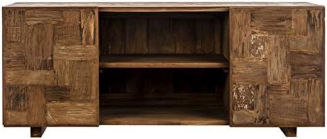 Mueble de televisión industrial rectangular de madera en bruto para puertas correderas Vical Home: Amazon.es: Hogar