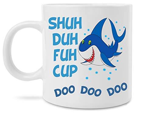 Funny Shark Shuh Duh Fuh Cup Doo Doo Doo Novelty Mommy Shark Song 11 Ounce Coffee Mug by MugBros
