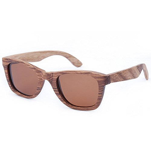 mano Cebra Lente retro Gafas Gafas TAC madera a marrón madera Ojos de hechos de UV hombres Retro alta de de sol gato calidad de Protección de Playa Gaf Gafas conducción sol los de polarizado de sol de 4YOHq