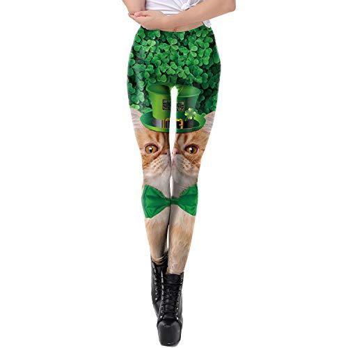0c2179c6ca662 Dawdyfu Sexy Women Digital Print Galaxy Legging Running Yoga Pants (Small,  Cat)