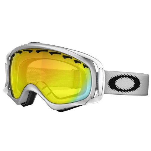 Oakley Crowbar Matte Adult Snow Snowmobile Goggles Eyewear - White/Fire Iridium / One Size Fits - World The The What Sunglasses Best Are In