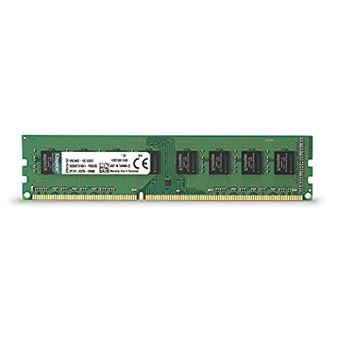 Kingston ValueRAM 8GB 1600MHz DDR3 Non - ECC CL11 DIMM STD Height 30mm Desktop Memory KVR16N11H/8 - Line Dimm Memory