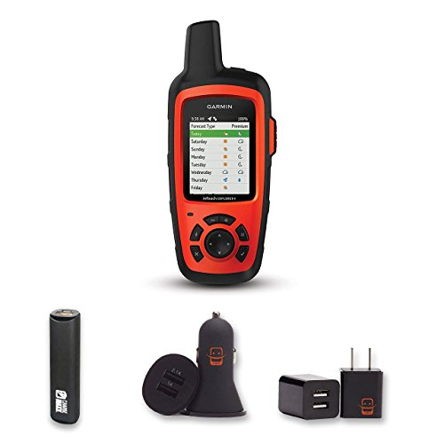 Garmin inReach Explorer+ Bundle with PowerBank + USB Car Charger + USB Wall Charger (4 ()