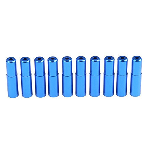 Domybest 10PCS Mountain Road Bike Bicycle Brake Cable Hose Housing End Cap 5mm(Blue) Replace Brake Hose
