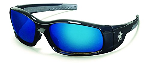 - Crews SR118B Swagger Safety Glasses Blk w/ Blue Diamond Mirror Lens (12 Pair)